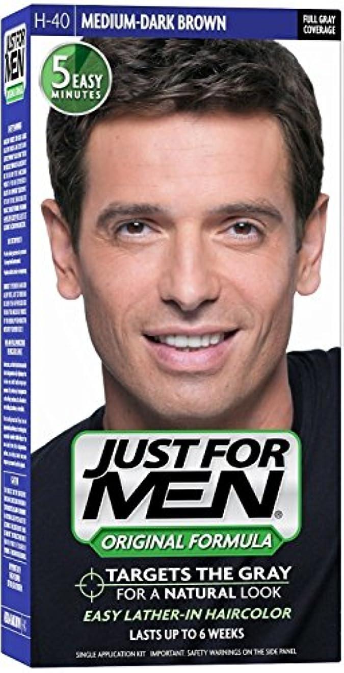 呼吸永遠の液化するJust for Men ヘアカラーH-40ミディアムダークブラウン1 Eaは(6パック)
