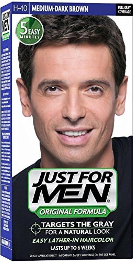 入場料キャッチ店員Just for Men ヘアカラーH-40ミディアムダークブラウン1 Eaは(6パック)