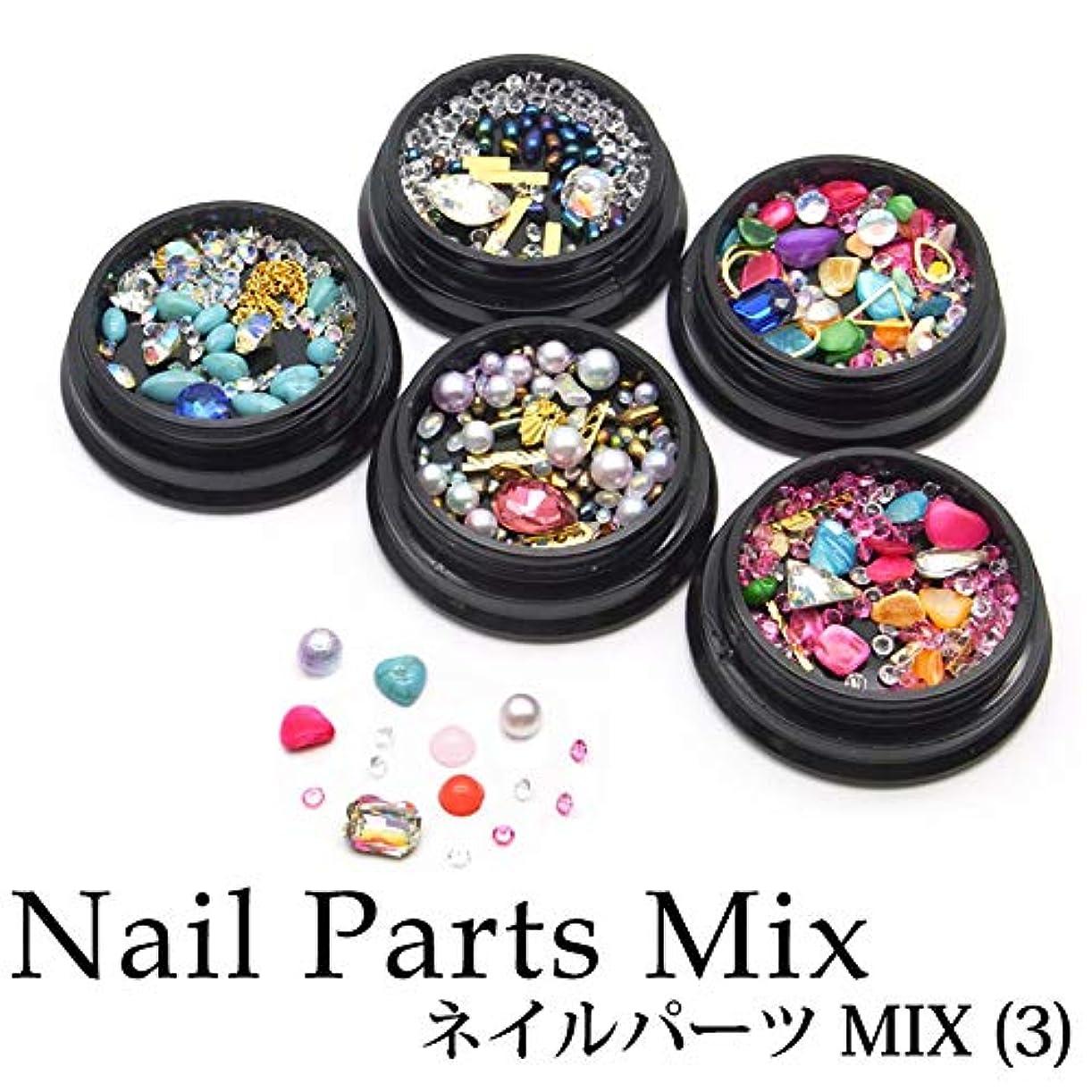 発表するキャンベラコックネイルパーツ MIX (3) ケース入り 10種 (10.レッド&ゴールドスティック)
