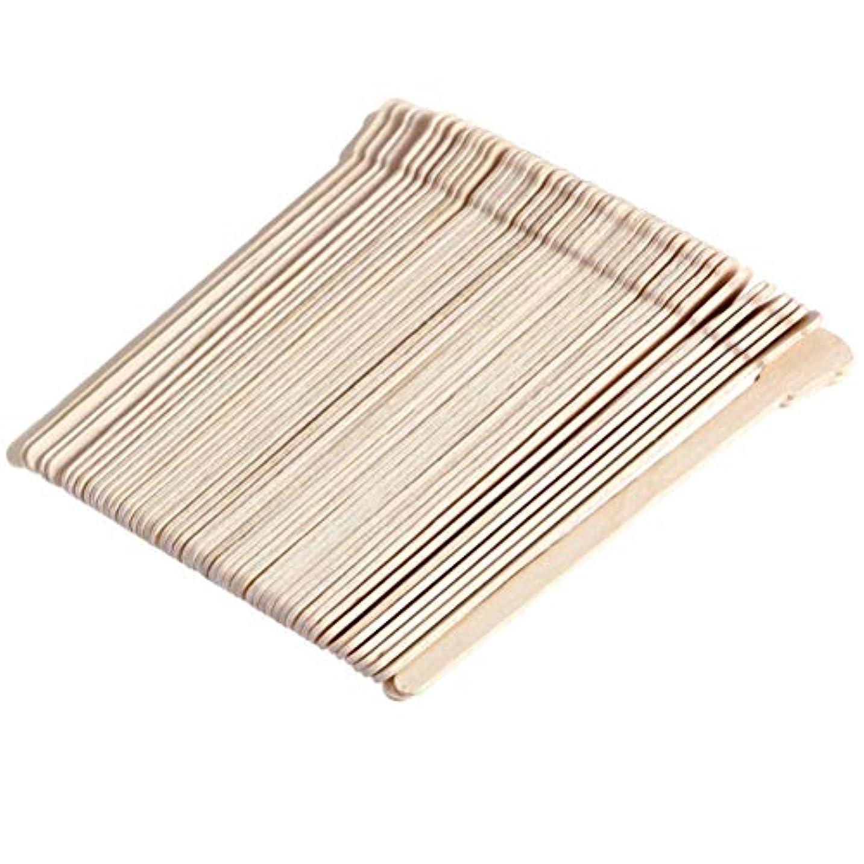 ぬれたペンス楕円形Healifty ワックスヘラ使い捨てワックススティック500本(オリジナル木製)