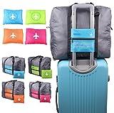 ange select バッグ オン バッグ 大容量 収納 スーツケース に ドッキング 旅行 ビジネス 出張 (ローズ)
