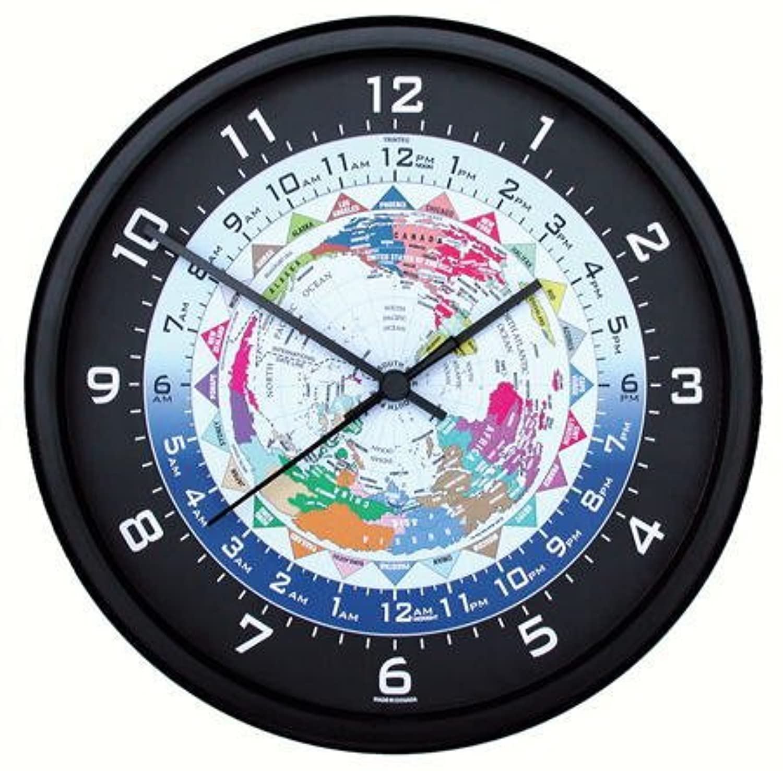 (トリンテック) TRINTEC 世界時計(ワールドタイム)壁掛時計