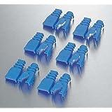 ELECOM LANケーブル コネクタ保護カバー 後付タイプ 6個入り 色分けにより誤配線を防ぐ LD-ABBU6