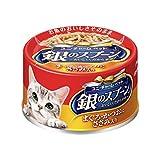 銀のスプーン缶 まぐろ・かつおにささみ入り 70g×48個入 【ケース販売】