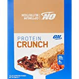 Optimum Nutrition Protein Crunch Bars Toffee Pretzel Box of 12 Protein Bars, 12 Pack