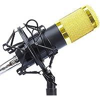 SYMPHA コンデンサーマイクセット スタジオマイク プロ用マイク (ブラックウインドスクリーン付き・ハンドリングノイズ低減クッションマウントタイプ)