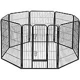 100 x 80CM 8 Panel Pet Playpen Portable Exercise Cage Fence Dog Puppy Rabbit