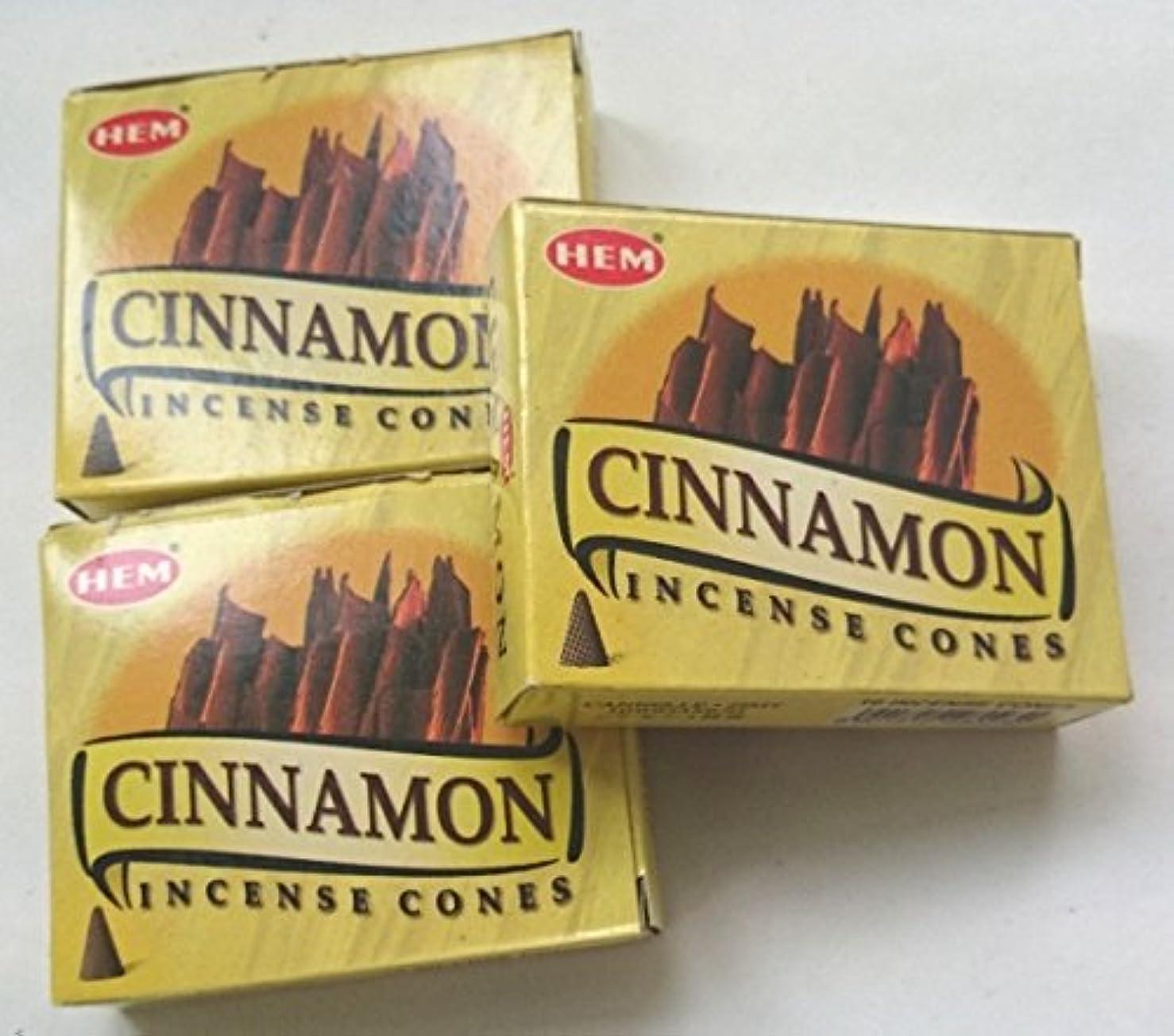 彼の商業の粒HEM(ヘム)お香 シナモン コーン 3個セット