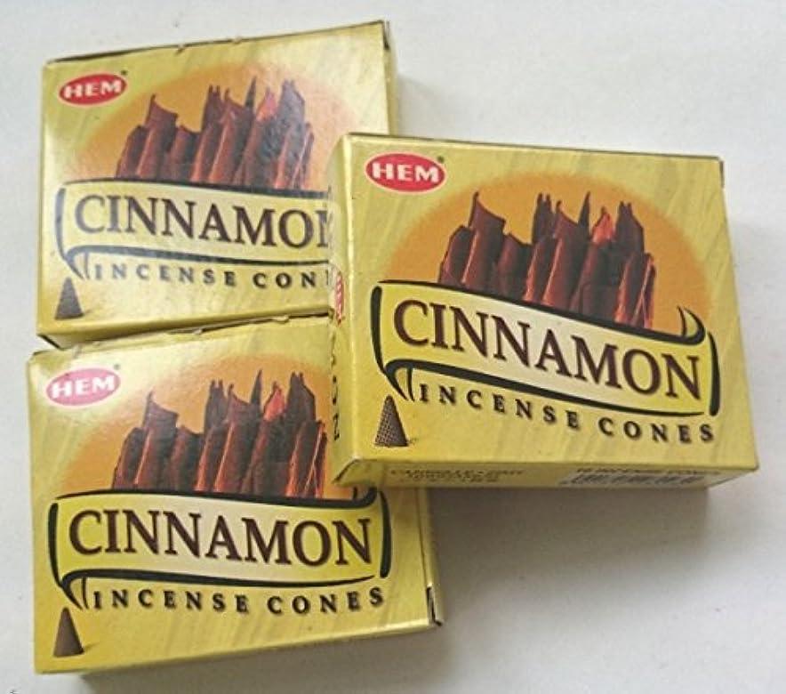 無礼に富豪包括的HEM(ヘム)お香 シナモン コーン 3個セット