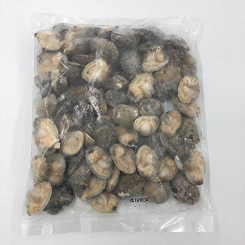 生開半殻雑色蛤 生 半殻付きアサリ 冷凍食品 500g