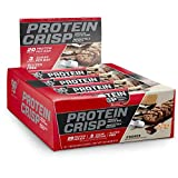 BSN Protein Crisp Bar by Syntha-6, Low Sugar Whey Protein Bar, 20g of Protein, NEW FLAVOR-S'mores, 12 Count