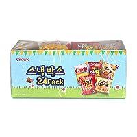 韓国スナックミニスナックとチップミックスバラエティーボックス [並行輸入品] (Crown 24個入)