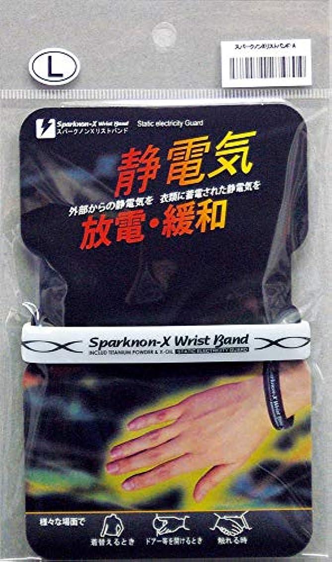 セッション恐怖症球体スパークノンX リストバンド-A ホワイト L
