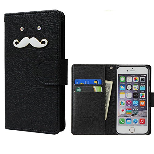 ROCOCO[SIMフリー SH-M03 SHM03 楽天モバイルSH-M03 AQUOS mini SH-M03 AQUOS Compact SH-02H AQUOS Xx2 mini au AQUOS SERIE mini SHV33 Disney Mobile DM-01H 共用 Diary Case] 全機種ケース対応 ケース 手帳型 カバー 手帳 ダイアリー 収納 カードいれ シンプル Xperia Iphone Galaxy Optimus Aquos Arrows Regza らくらく MEDIAS ELUGA DisneyMobile isai Kyocera Digno HTC Huawei Google Ymobile Fujitsu Apple Asus スマートフォンケース機種対応 手帳ケース 人気 かわいい おすすめ 丈夫 収納 カード入れ Diary キャラクター 携帯 シンプル 無地 カラープール Color キャラクター ひげ 人気デザイン ひげ かわいい ひげ キャラクター BLACK