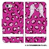 スマホゴ [Xperia Z3 SO-01G] 手帳型 カード収納付き スマホケース 0060-E. ピンクヒョウ柄02