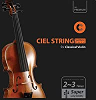 [CIELmusic] Synthetic Core Violin String Set for Classical Violin 3/4 and 4/4 Scale Medium Tension [並行輸入品]
