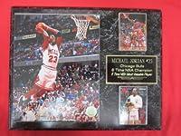 マイケル・ジョーダン シカゴ・ブルズ カード2枚 コレクタープラーク #5 8 x 10の写真付き SLAM DUNK