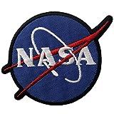 NASAロゴスペースエクスプローラ刺繍のバッジのアイロン付けまたは縫い付けるワッペン