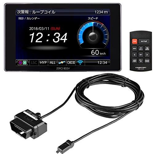 【定番セット】コムテック ZERO 805VR レーダー探知機 ZERO 805V + OBD2接続アダプター OBD2-R3セット 完全無料データ更新 移動式小型オービス&ゾーン30対応 ZERO805VR