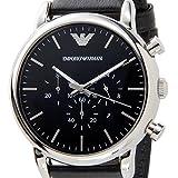 エンポリオ アルマーニ ルイージ クオーツ クロノ 腕時計 AR1828 ブラック