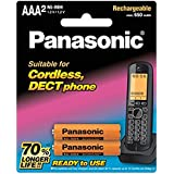 Panasonic BK-4LDAW/2BT Phone Battery AAA Ni-MH, RTU Rechargeable, 2 Pack