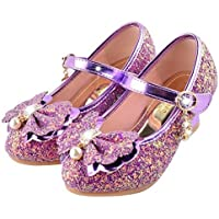 Bumud Girls' Mary Jane Shoes 2 M US Little Kid Purple