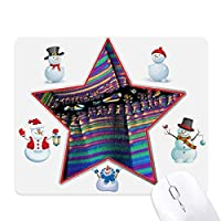 科学ビオプラスト小宇宙のパターン クリスマス・雪人家族ゴムのマウスパッド