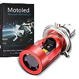 LEDバイク用ヘッドライト H4/HS1 Hi/Lo 直流12V/24V共用 Camelight 暖白光 3000K 高輝度 強力なライトで雨や霧などの全天候に対応 バイク用ヘッドライトに最適(1個)