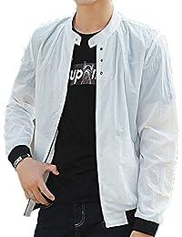 [XINXIKEJI]夏 ジャケット メンズ ウィンドブレーカー ビジネス ジャケット uvカット パーカー 無地 長袖 超軽量 薄手 通気 カジュアル コートメンズ アウター おしゃれ 通勤 通学 M-XXXL