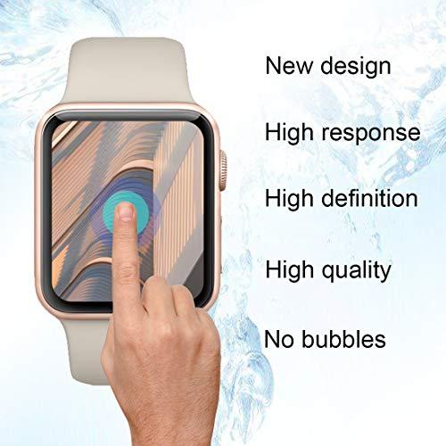 『【6枚セット】Newzerol For Apple Watch Series 4 44mm 2018 保護フィルム 改良版【ラウンドエッジ・超薄0.1mm・傷防止・透過率99%・気泡防止】Apple Watch 44mm Series 4 液晶保護フィルム』の3枚目の画像