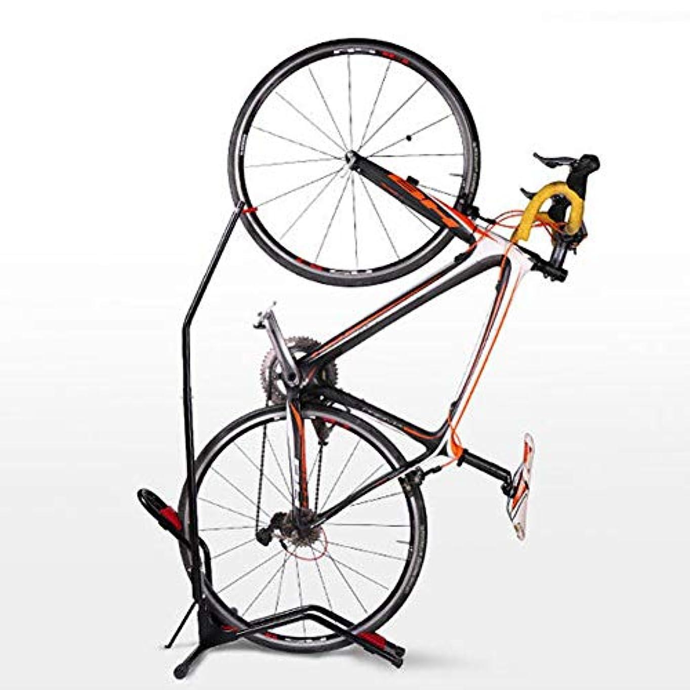深遠動差し控える自転車スタンド ディスプレイスタンド【 縦置き 横置き両用】 クランクストッパースタンド 盗難防止 頑丈で転倒防止 収納 空間が狭くならない
