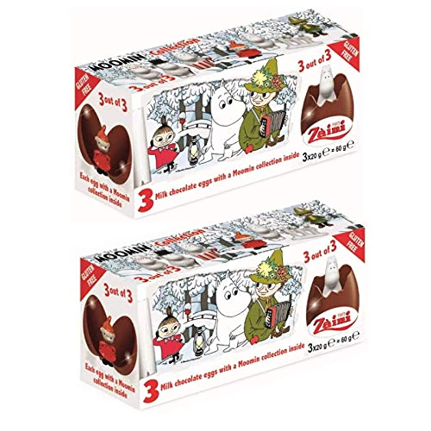 余韻ピル地区ムーミン チョコレートエッグ(3個入)x2箱セット