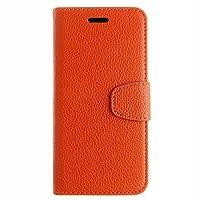 iPhone Xr シェル, Phoebe 贅沢 PU レザー 財布 フリップ 保護 Leather Covers for シェル カバー 〜と カード スロット 立つ の iPhone Xr Orange