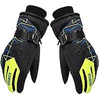 オートバイ/スキー/サイクリング/スノーボードグローブ屋外防風手袋イエロー