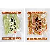 沖縄県産 島らっきょう塩漬けとキムチ 各50g 1セット でいごフーズ 石垣の塩仕込み シャキシャキの食感の島らっきょうとピリッとキムチ味の島らっきょう