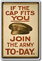 If The Cap Fits You, Join The Army Today Vintage Military War Fridge Magnet - ?????????