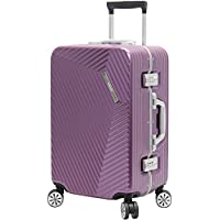 "Andiamo Luggage Aluminum Frame 20"" Carry On Zipperless Suitcase with Spinner Wheels"