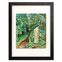エドヴァルド・ムンク Edvard Munch 「In the garden. Birgit Prestoe」 額装アート作品