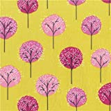 Michael Miller 様々なピンクの色の木の柄のシャトレーゼ色コットン生地 Lollipop Trees