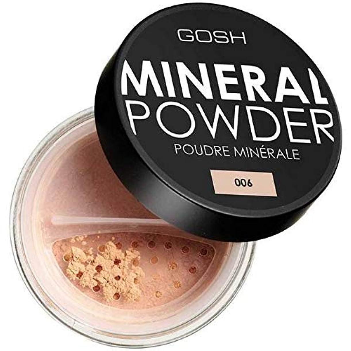 ゴールデン消費好ましい[GOSH ] おやっミネラルフルカバレッジ基礎粉末蜂蜜006 - GOSH Mineral Full Coverage Foundation Powder Honey 006 [並行輸入品]