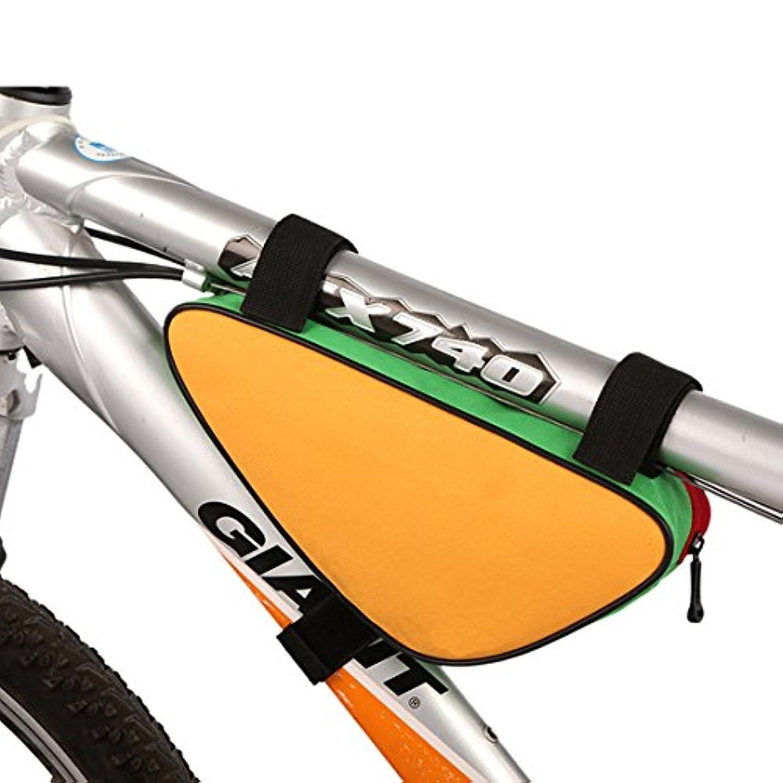 謎めいた自明到着するポリエステル自転車トップチューブバッグ三角形形状