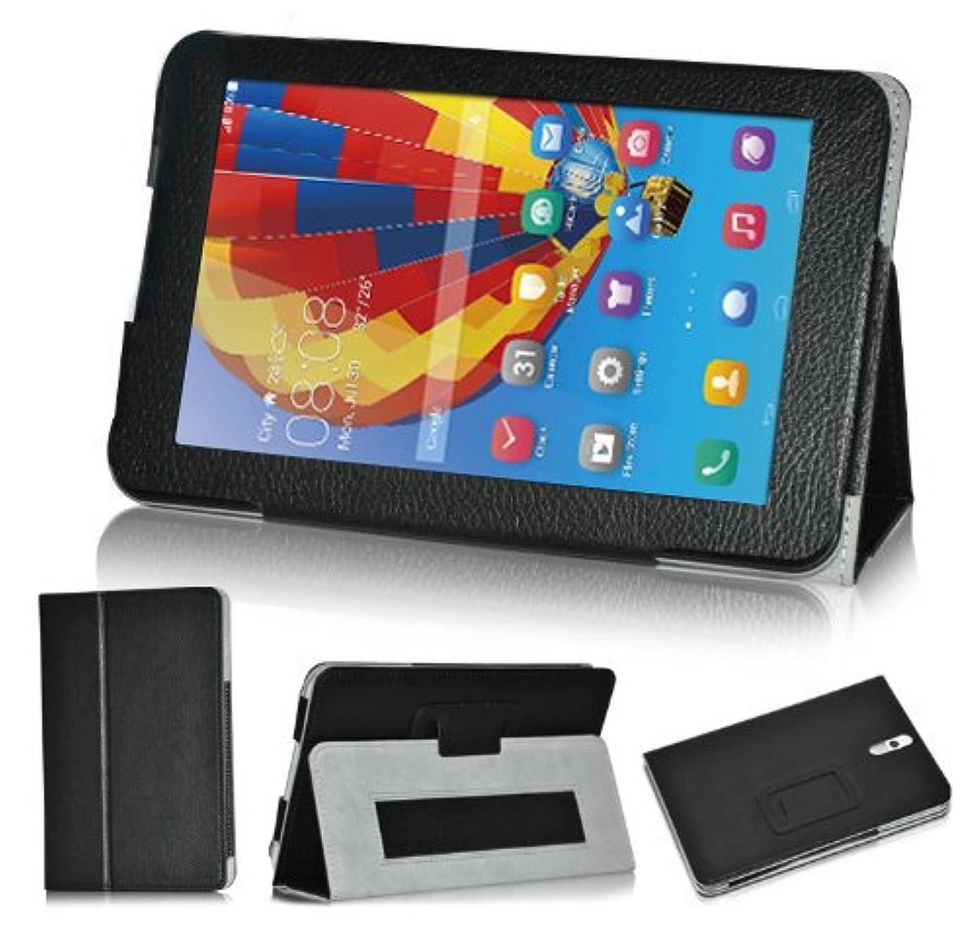頼む少なくとも合わせてwisers 保護フィルム?タッチペン付 Huawei MediaPad 7 Youth2 / 勉強サプリ タブレット 専用 ケース カバー ブラック