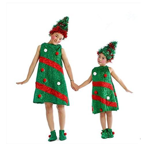 ワンース (Wansi) ベビー 子供 女の子 男の子 クリスマス Xmas パーティー サンタ ハロウィン コスプレ 衣装 コスチューム 舞台装 演出服 クリスマスツリー 服 サンタクロース 160