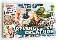 Revenge of the Creature from theブラックLagoon映画ポスター冷蔵庫マグネット( 2x 3インチ) HS