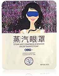 Eboxer 蒸気でホットアイマスク ラベンダーの香り 目もとを温めく 軽量 目の疲れ解消 男女通用 安眠 圧迫感なし 遮光 睡眠 ストレス解消