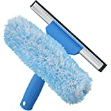 """Unger Professional Microfiber Window Combi: 2-in-1 Professional Squeegee and Window Scrubber, 6"""""""