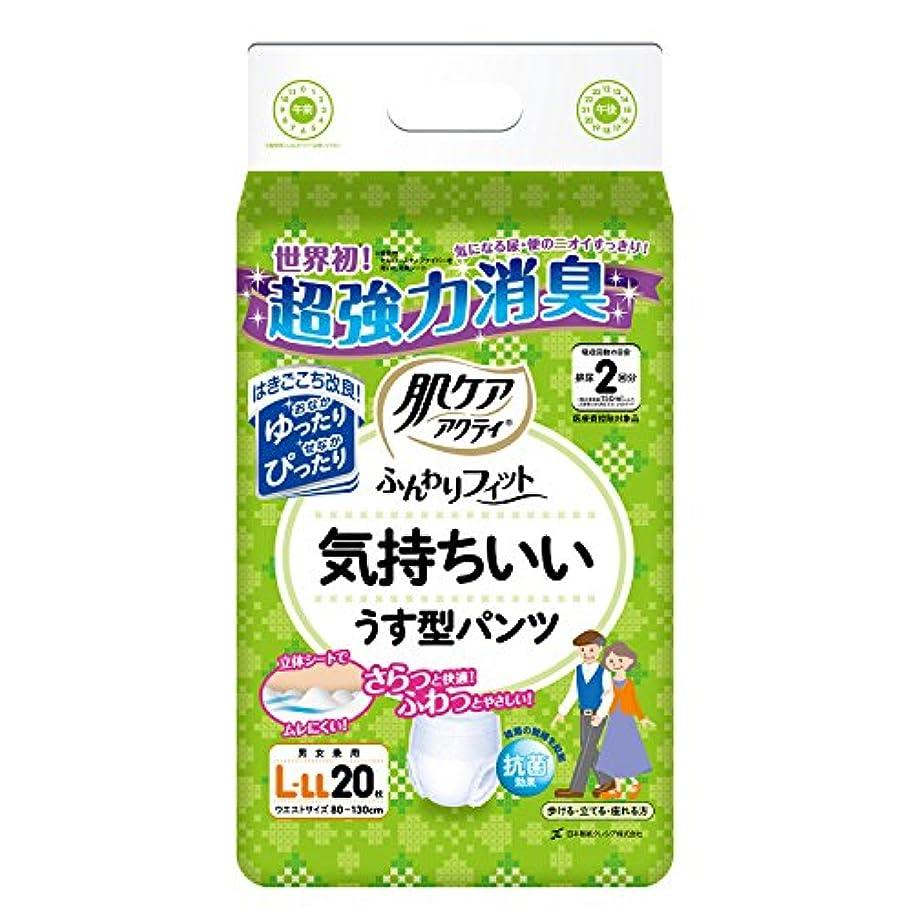 アルプス便宜含む日本製紙クレシア 肌ケア アクティ ふんわりフィット気持ちいい うす型パンツ L-LLサイズ 20枚×4 (80枚)【無地ダンボール仕様】 85254