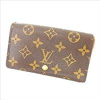 ルイヴィトン Louis Vuitton L字ファスナー財布 二つ折り ユニセックス ポルトモネビエトレゾール M61730 モノグラム 中古 Y1939