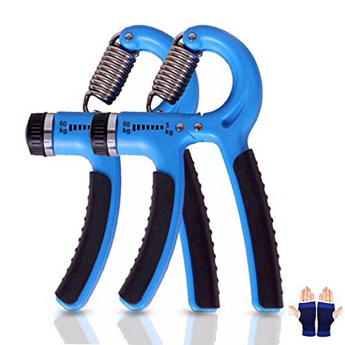 Cookie Talk グリップ ハンドグリップ 握る器具 筋トレ トレーニング リハビリ器具 男女兼用 5-60kg ブルー 2個セット