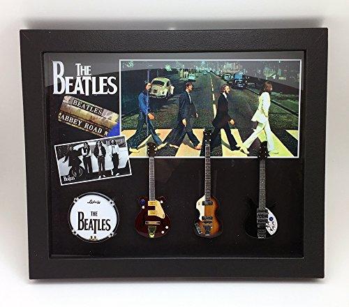 [해외][Musical Story] BEATLES 유형 1 미니어처 기타 탁상 벽걸이 액자 액자 세트/[Musical Story] BEATLES Type 1 Miniature Guitar Desktop Wall Mount Framed frame set